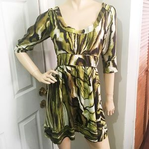 Anthropologie Tunic Swirl Top Peplum Waist Dress